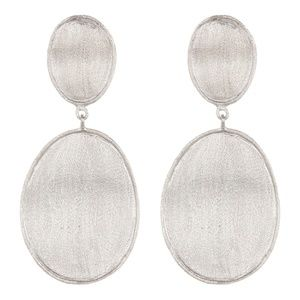 RIVKA FRIEDMAN Satin Wavy Oval Drop Earrings